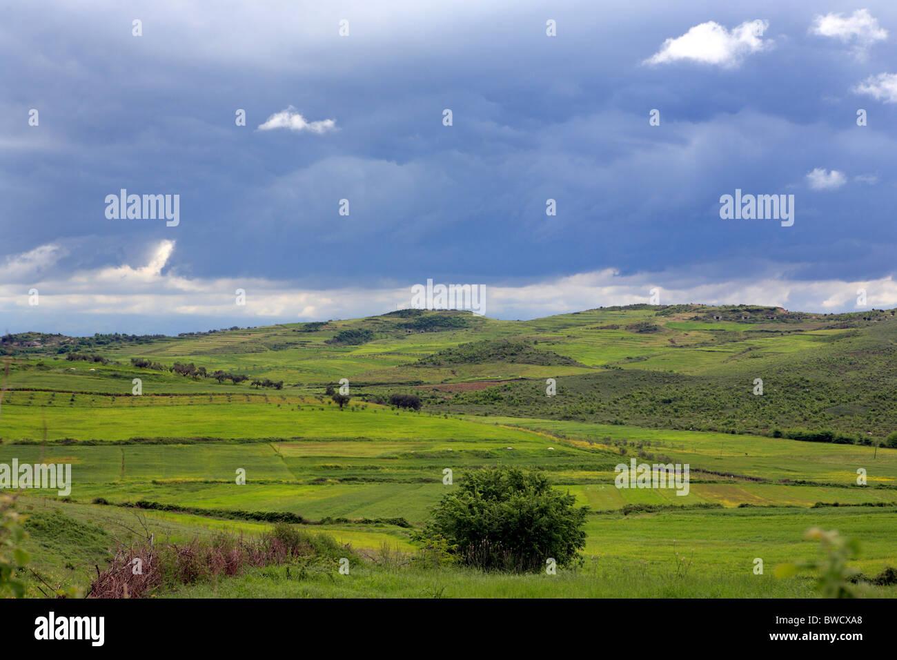 Paysage, Fier du district, de l'Albanie Photo Stock