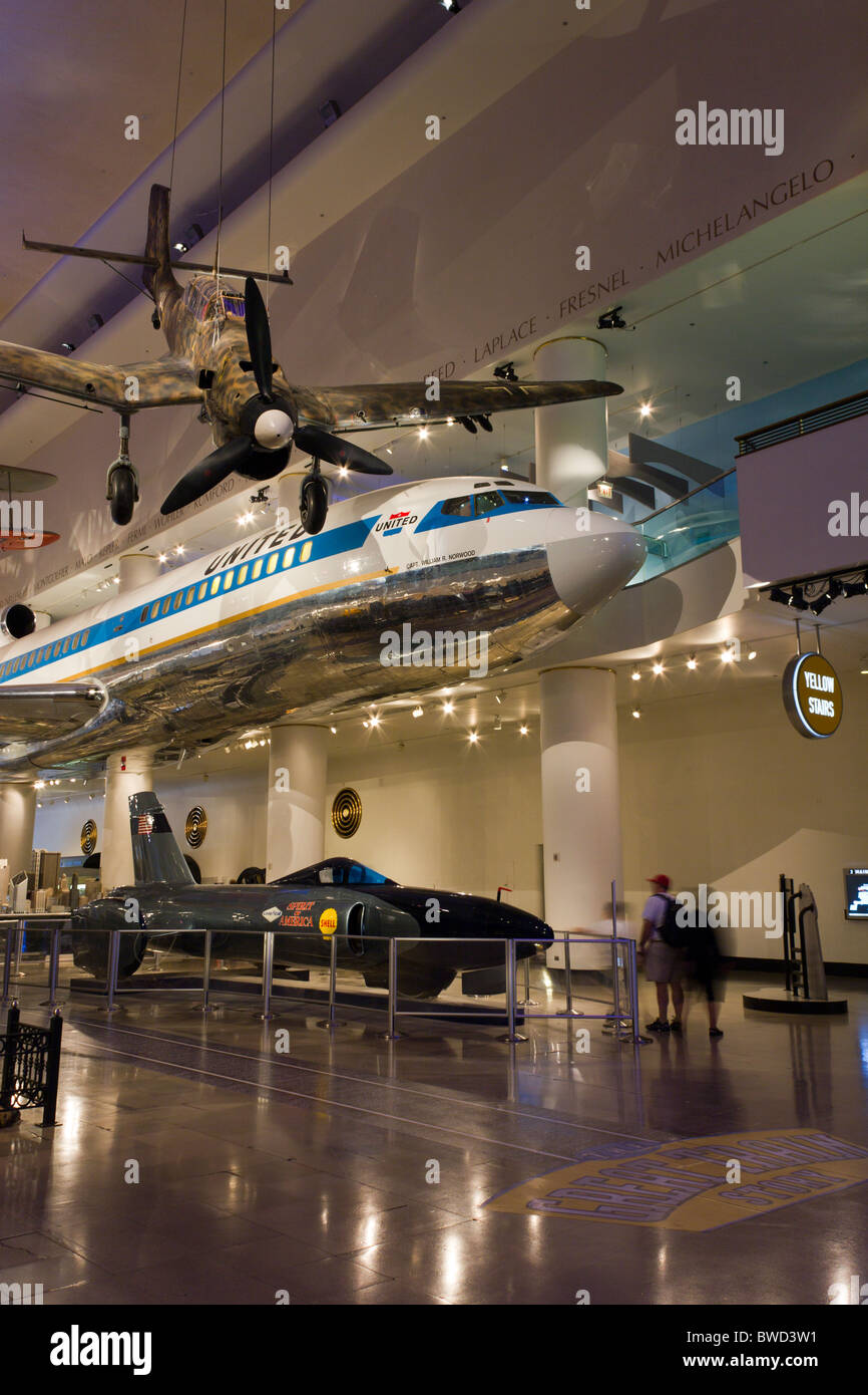 Transports - gallery, Museum of Science and Industry, Chicago, USA Photo Stock