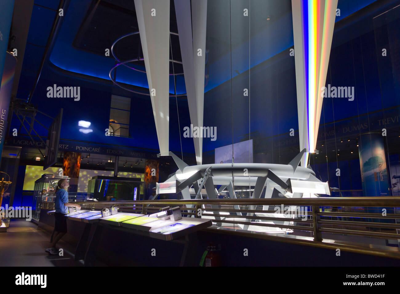 Musée des sciences et de l'industrie, de la science galerie de tempêtes, Chicago, USA Photo Stock
