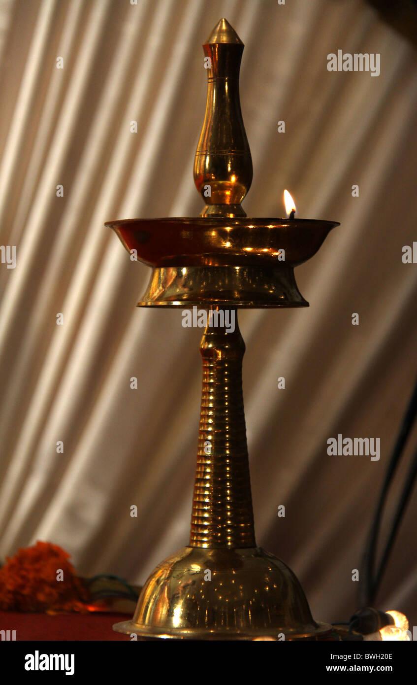 Lampe A Huile Indienne Vilakke Banque D Images Photo Stock