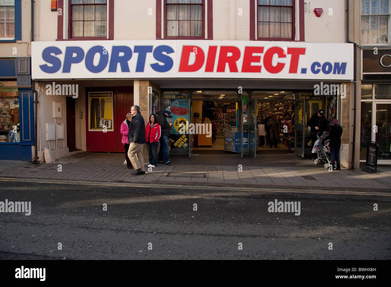 Magasin de vêtements de sports Direct.com shop UK Photo Stock