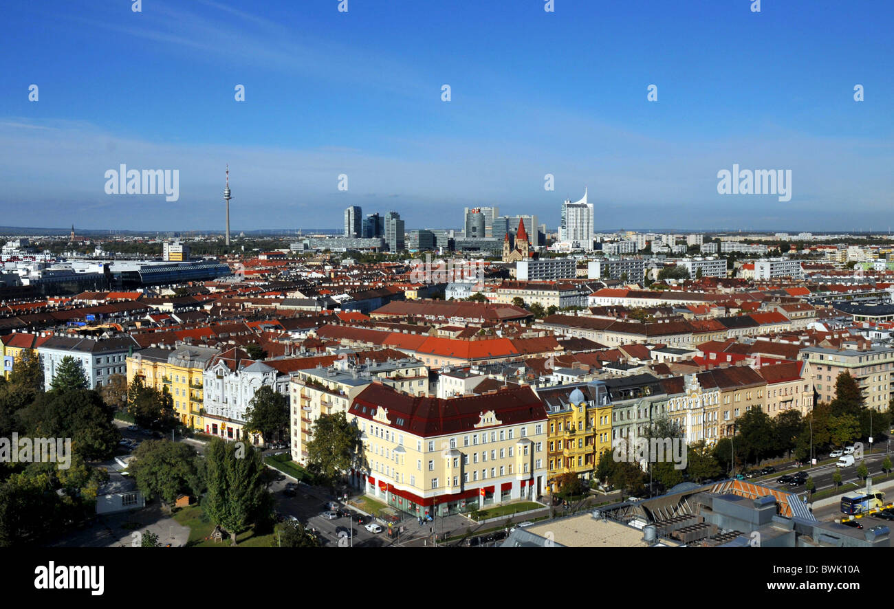 Vienne, Autriche, Europe, sur la capitale ville de Vienne en Autriche Photo Stock