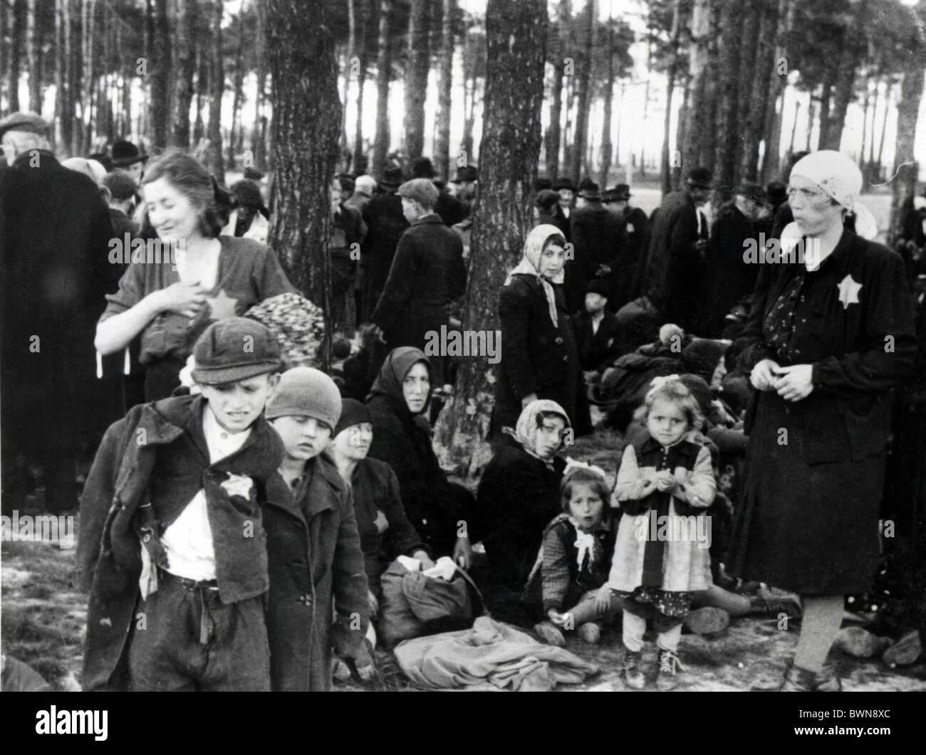 La Seconde Guerre mondiale camp de concentration Auschwitz-Birkenau Juin 1944 L'arrivée des Juifs hongrois Pologne Banque D'Images