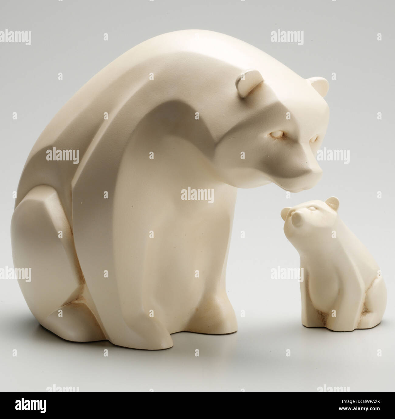 La sculpture de l'ours polaire Photo Stock