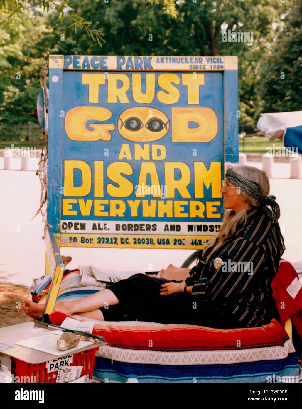 Mouvement de la paix à Washington,DC USA. Photo Stock