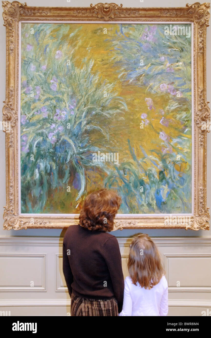 Mère et fille à la une à Claude Monet peinture, Metropolitan Museum of Art, New York Photo Stock