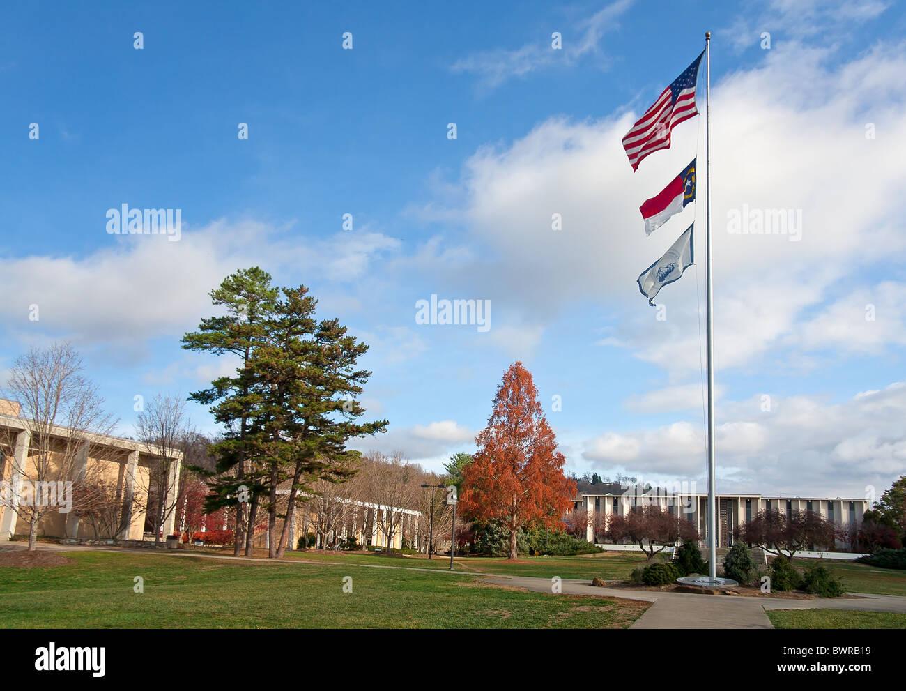 University of North Carolina at Asheville campus. Banque D'Images