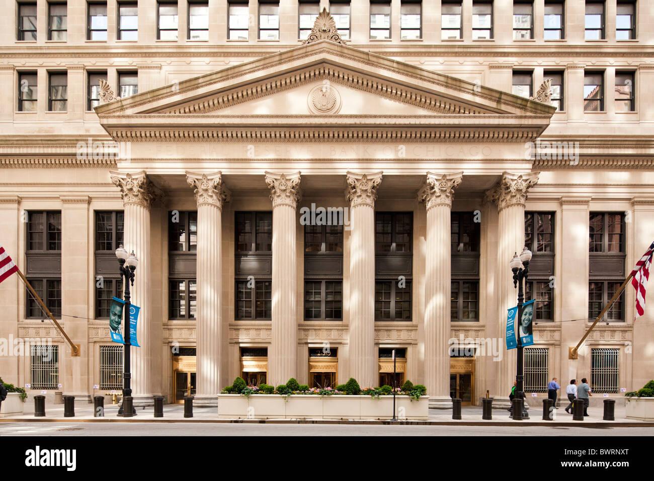 Banque fédérale de réserve alimenté Chicago, Illinois Photo Stock