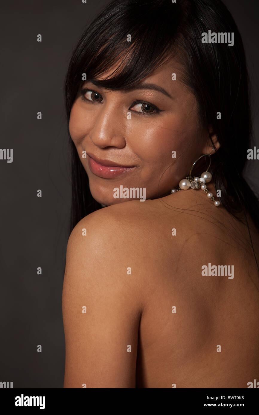 Belle femme asiatique des années 30 Photo Stock