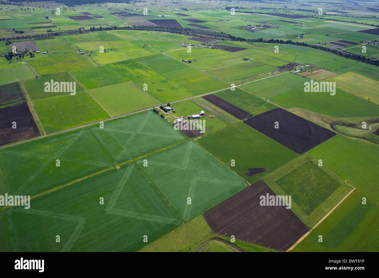 Vue aérienne de cropping Hunter Valley Australie NSW Photo Stock