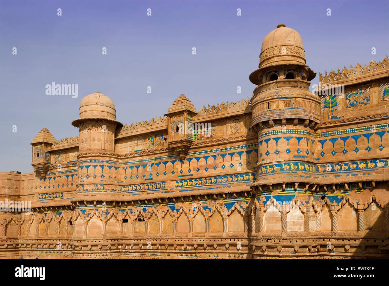 Le Madhya Pradesh Inde Fort De Gwalior Gwalior City Man Singh Palace