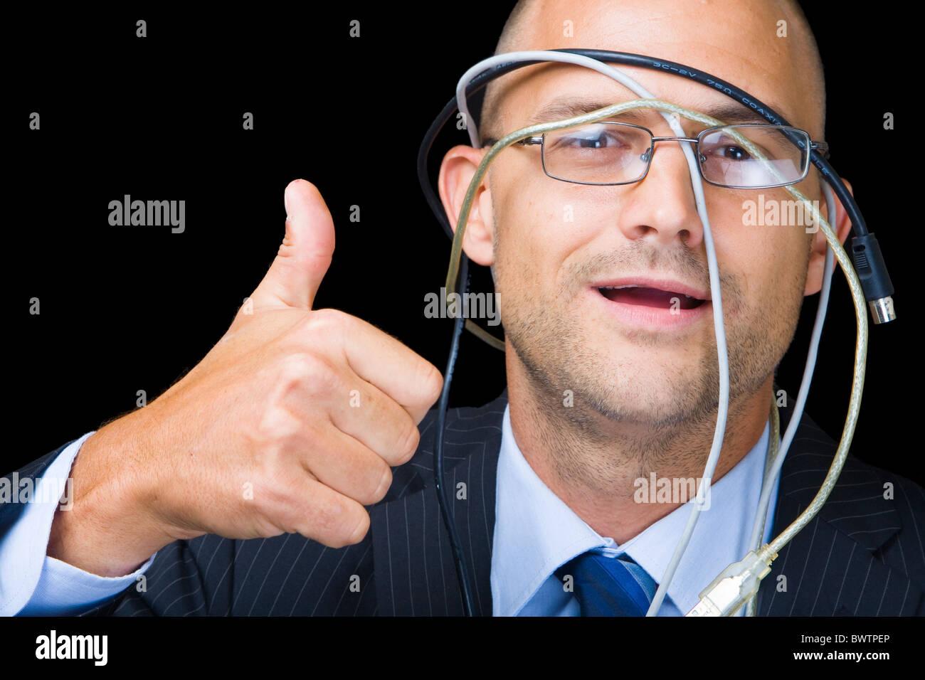 Idiot d'affaires Photo Stock