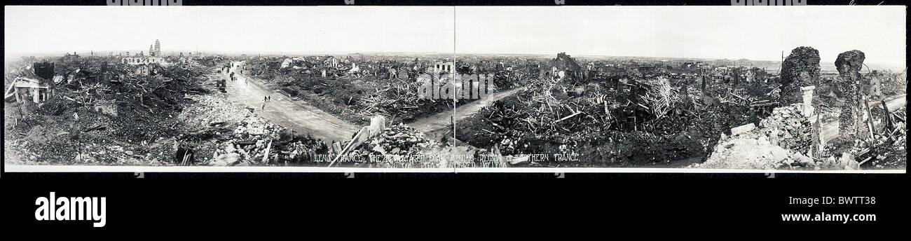 Lens France Europe La Première Guerre mondiale LA PREMIÈRE GUERRE MONDIALE a dévasté la région Photo Stock