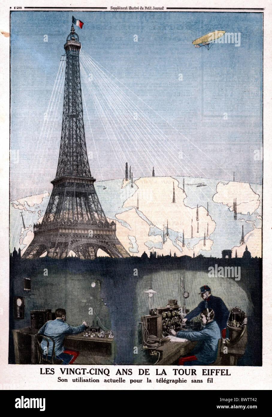 Le Petit Journal illustration 1914 Tour Eiffel Paris France Europe historique historique history magazine co Photo Stock