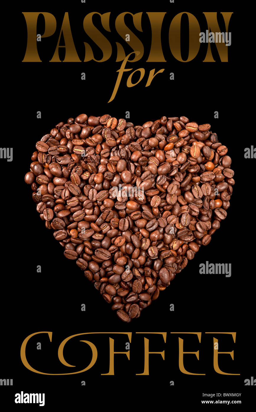 L'affiche avec les grains de café Photo Stock