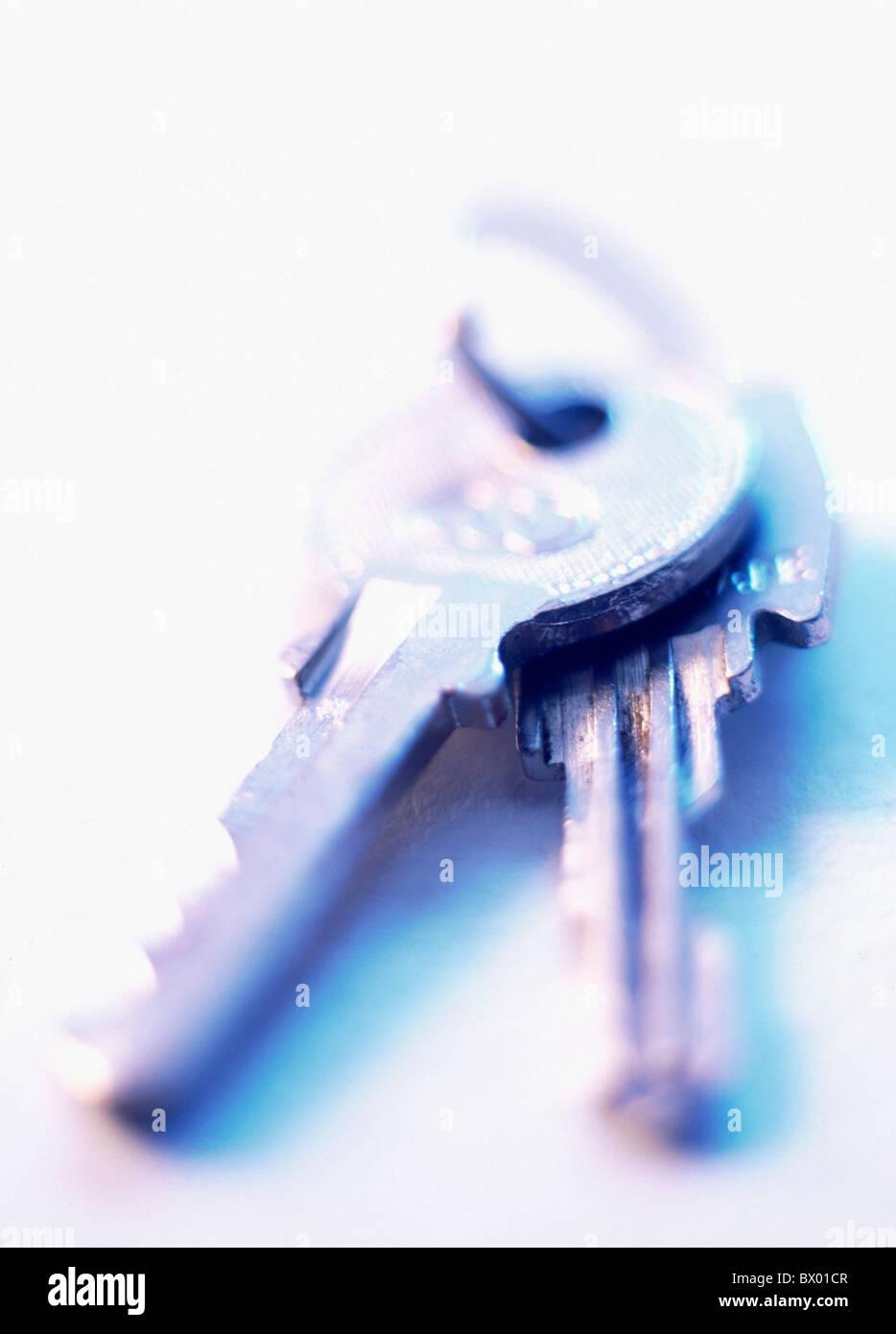 Produits métalliques fer deux symbole de clé concept Photo Stock