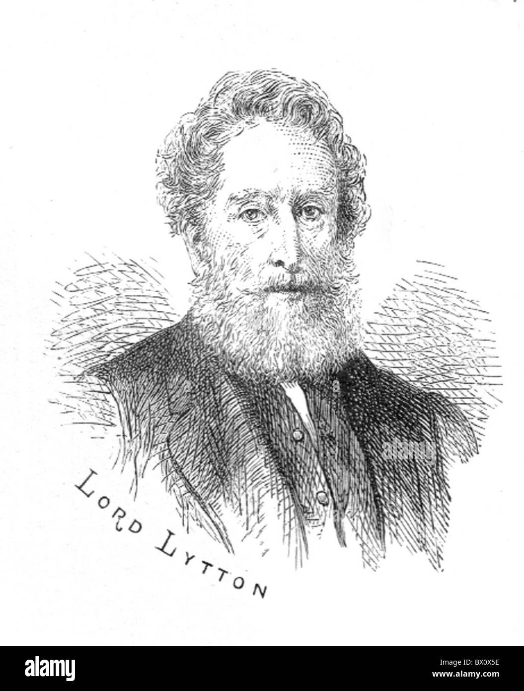Image d'Archive historique des figures littéraires. C'est Lord Lytton. Banque D'Images