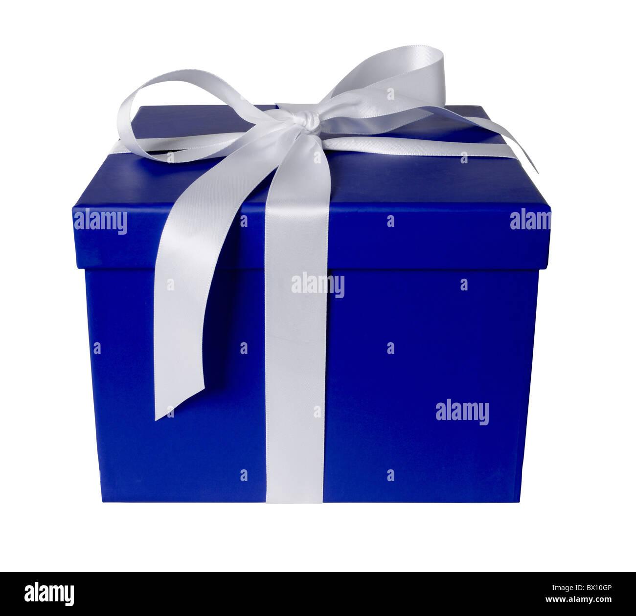 coffret cadeau bleu Photo Stock
