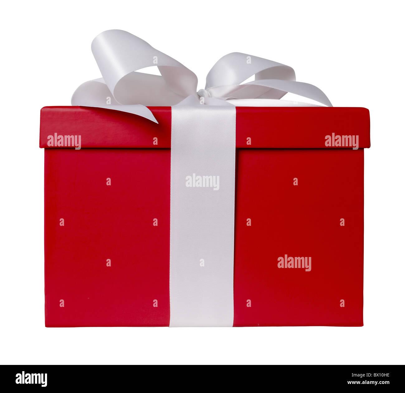 boîte cadeau rouge Photo Stock