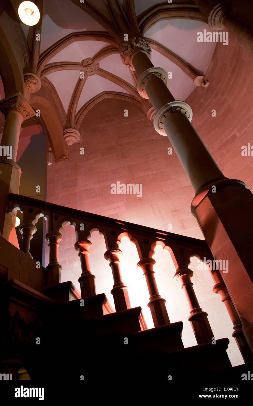 L'architecture gothique victorienne - Intérieur, de l'ancien collège de l'Université Photo Stock