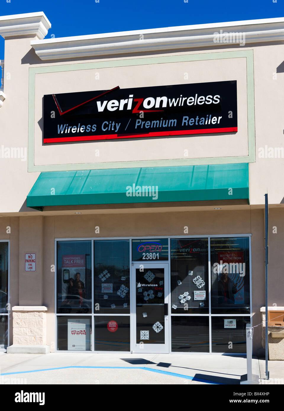Un magasin de détail sans fil Verizon près de The Eagle Ridge Mall, Lake Wales, Central Florida, USA Banque D'Images
