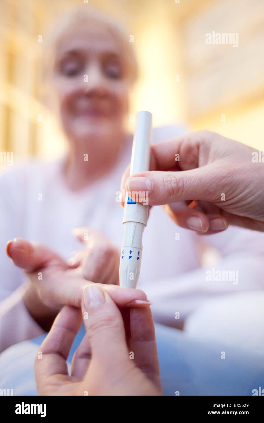 Test de glycémie Photo Stock