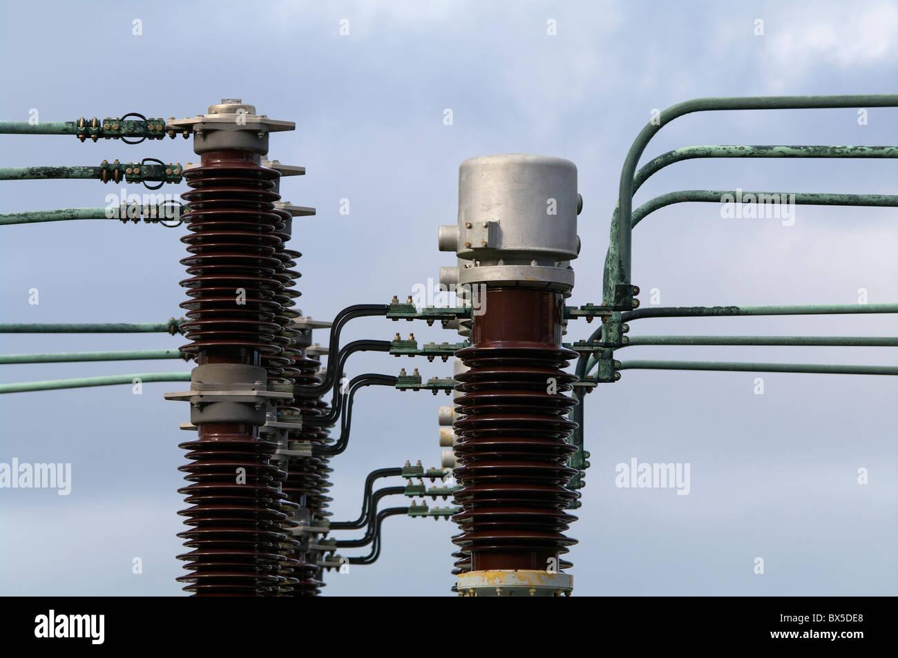 Pris dans l'installation d'un système géothermique dans les Açores Photo Stock
