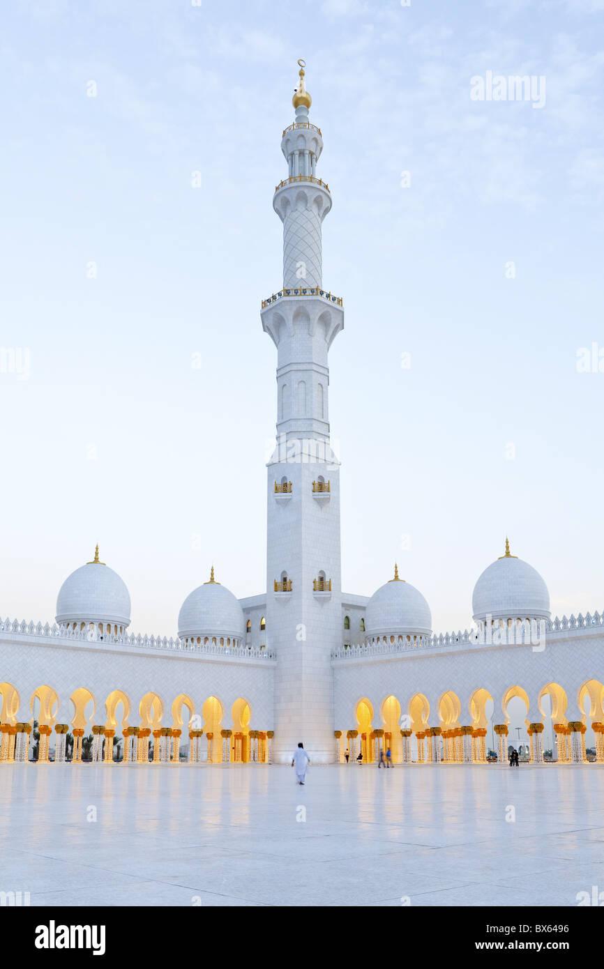 Mosquée Sheikh Zayed Bin Sultan Al Nahyan, Abu Dhabi, Émirats arabes unis, Moyen Orient Photo Stock
