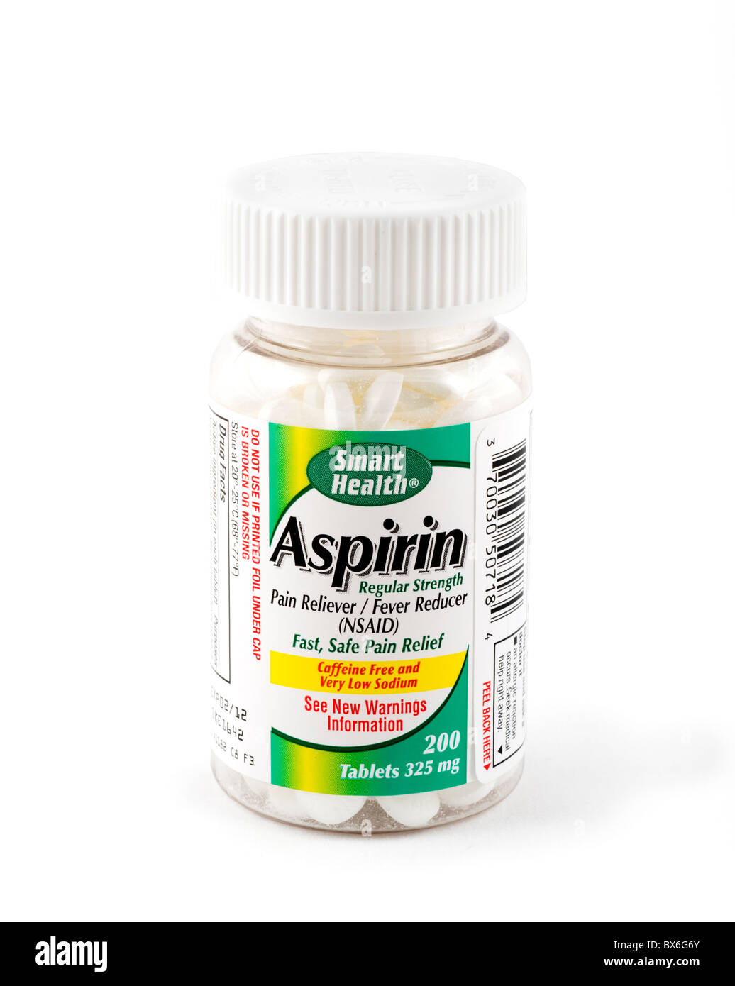Bouteille de comprimés d'Aspirine, USA Photo Stock