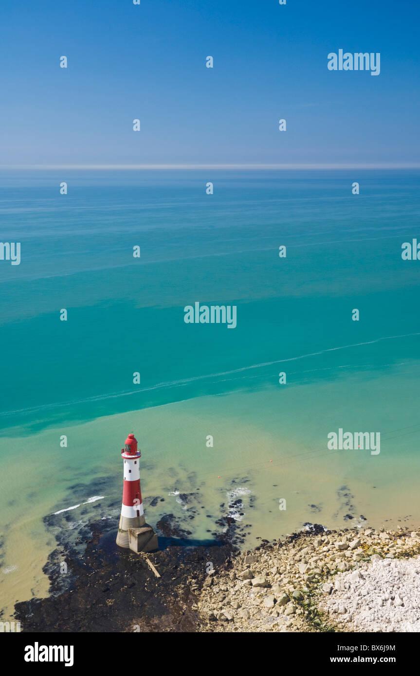 Beachy Head Lighthouse, East Sussex, de la Manche, en Angleterre, Royaume-Uni, Europe Photo Stock