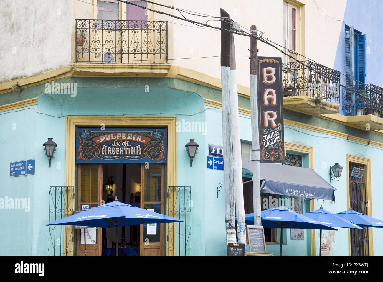 La Pulperia Argentine Bar à La Boca quartier de Buenos Aires, Argentine, Amérique du Sud Photo Stock