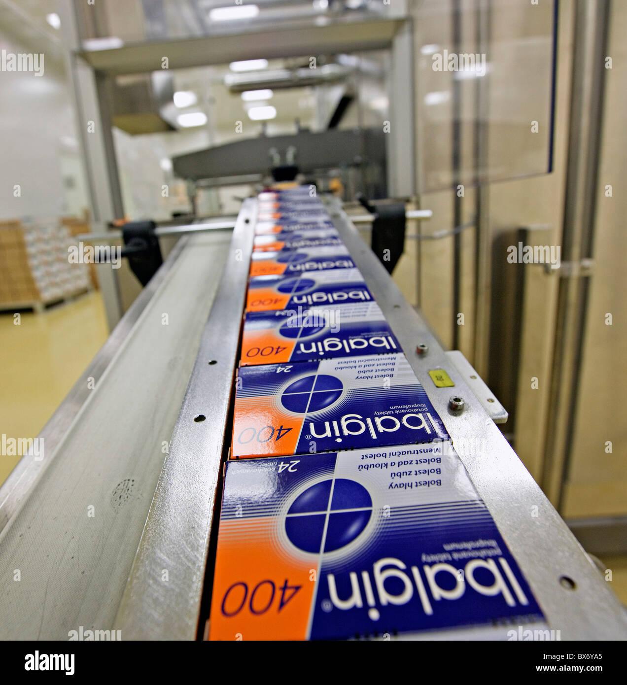 Zentiva, entreprise pharmaceutique, de l'intérieur, production, fabrication Photo Stock