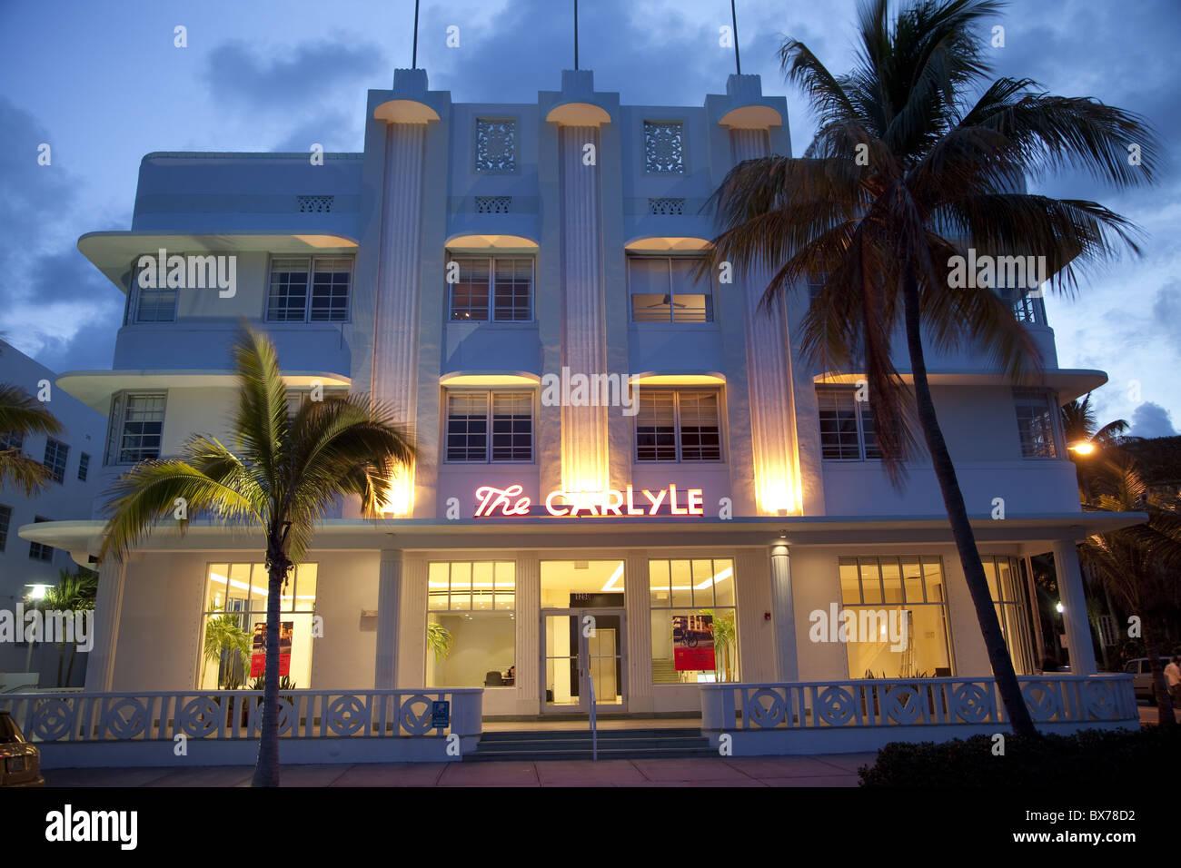 Deco Amerique bâtiment art déco à miami beach, floride, États-unis d'amérique