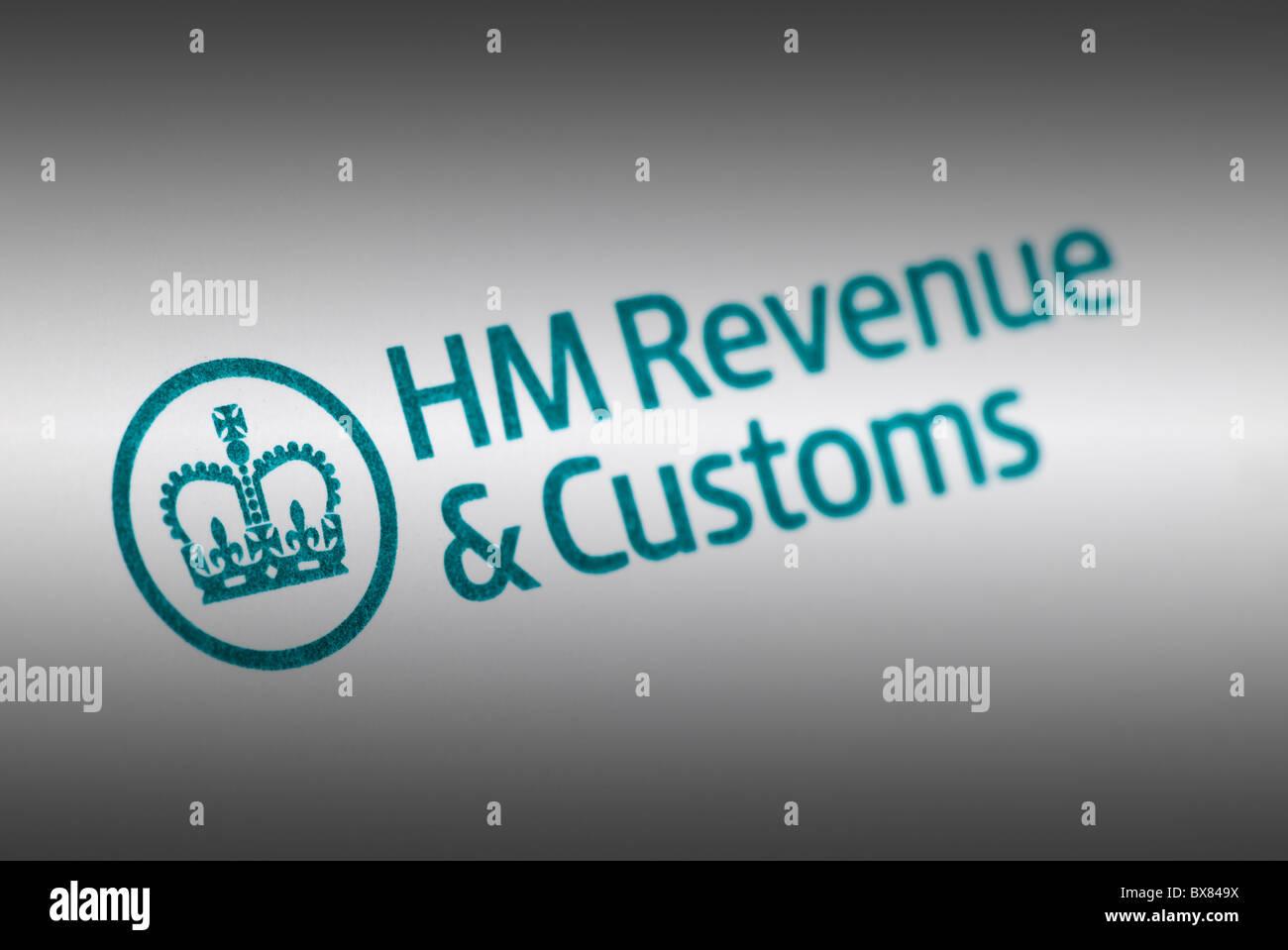L'impôt du Royaume-Uni logo HM Revenue & Customs Photo Stock