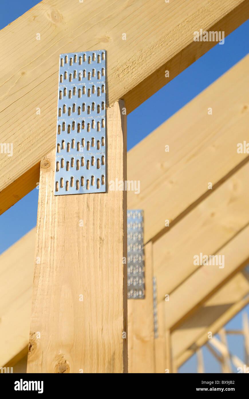 Détail des fermes de toit Photo Stock