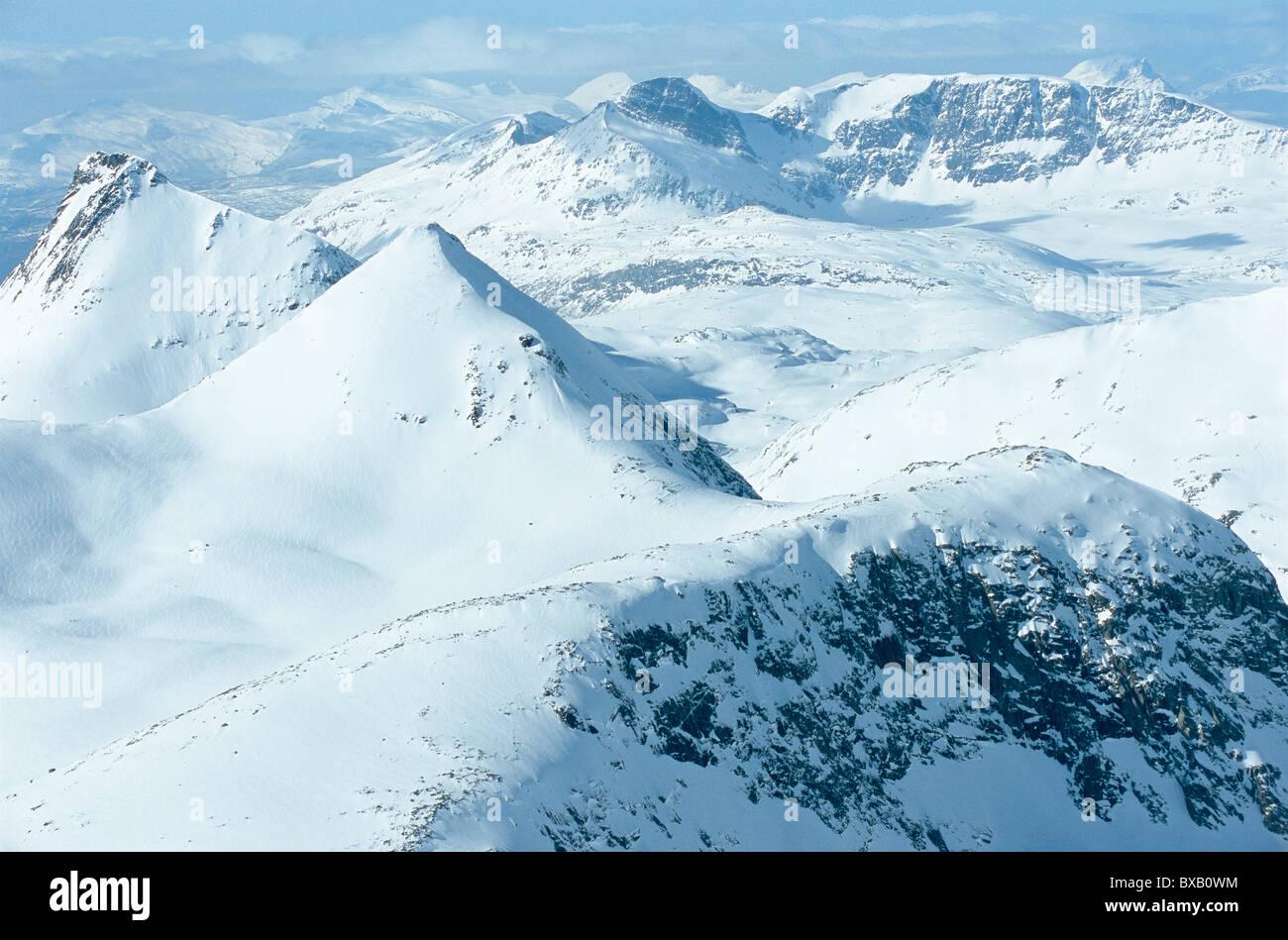 Paysage de montagne en hiver Photo Stock