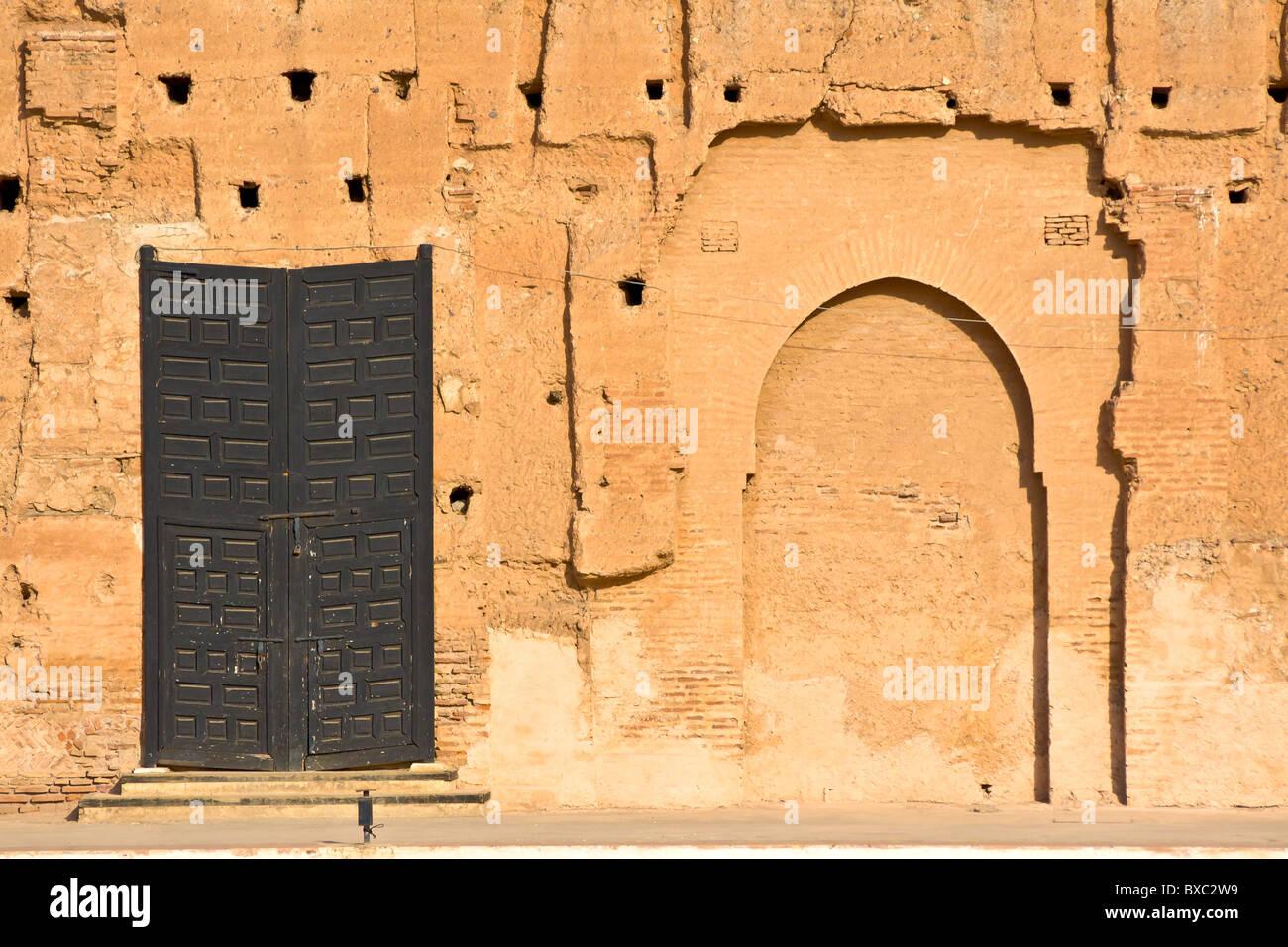 El Baadi bâtiment Palace Marrakech Maroc Palace Banque D'Images
