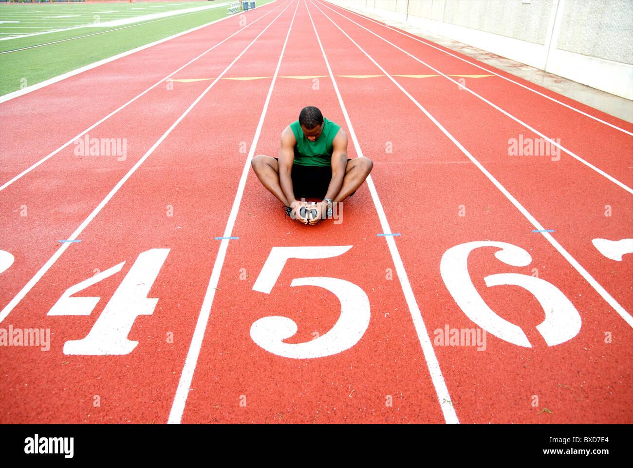 L'athlète afro-américain Photo Stock
