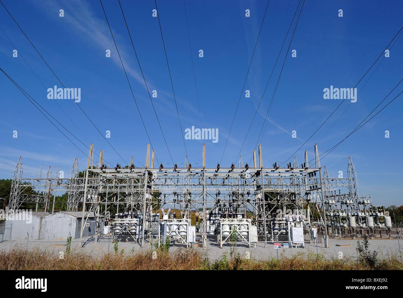 Une centrale électrique industriel Photo Stock