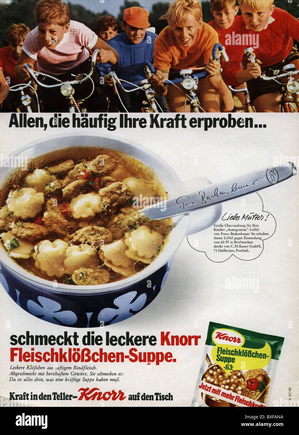 Publicite Advertising 1965 Knorr Potage Tomate Volume Large Breweriana, Beer Collectibles
