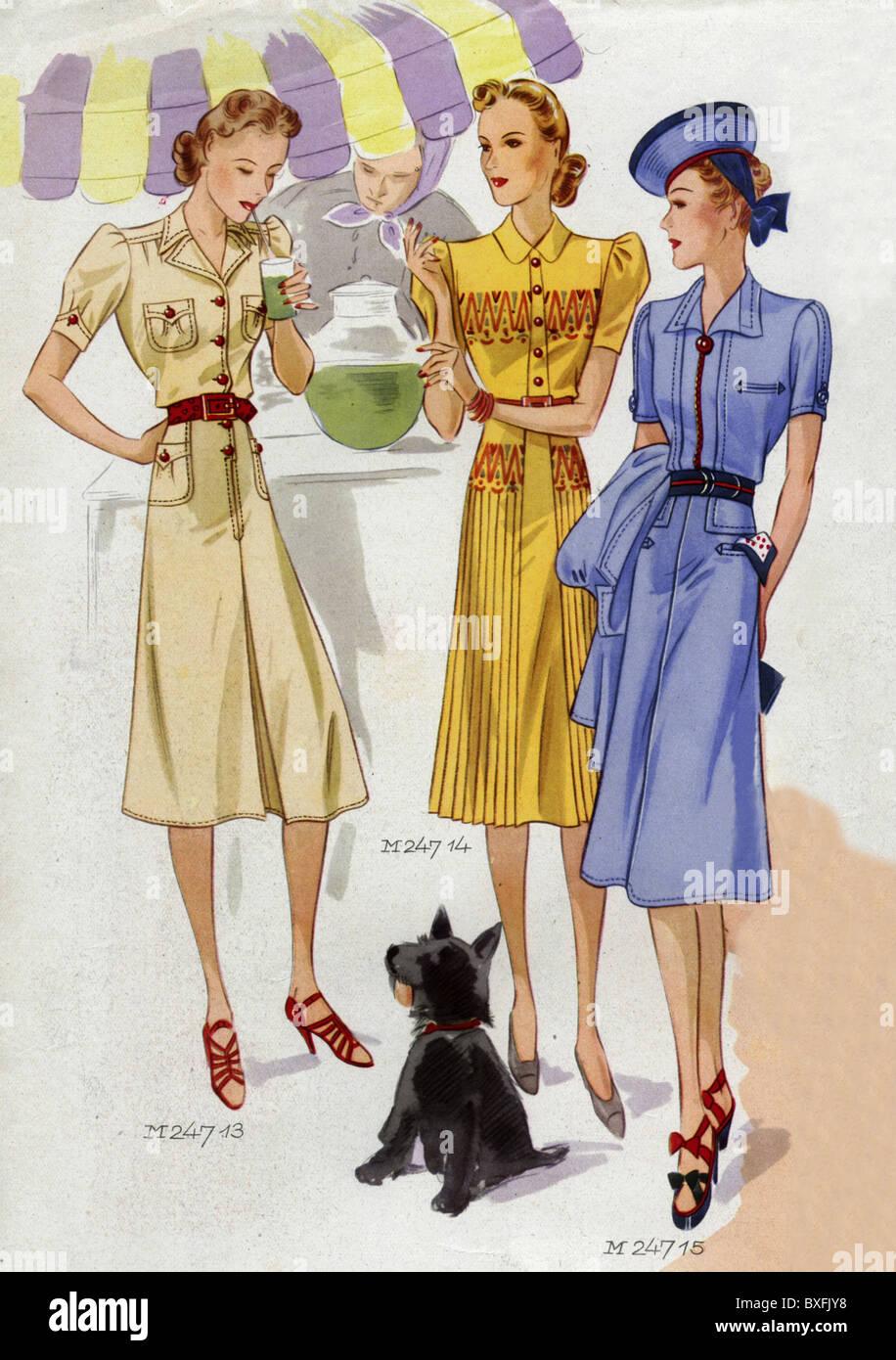 la mode ann es 1930 gant de la mode mannequins. Black Bedroom Furniture Sets. Home Design Ideas