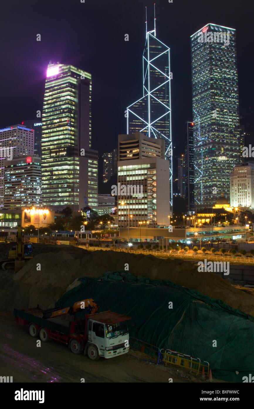L'incroyable d'horizon de Hong Kong vu de Kowloon. Les structures imposantes: Bank of China, Banque D'Images