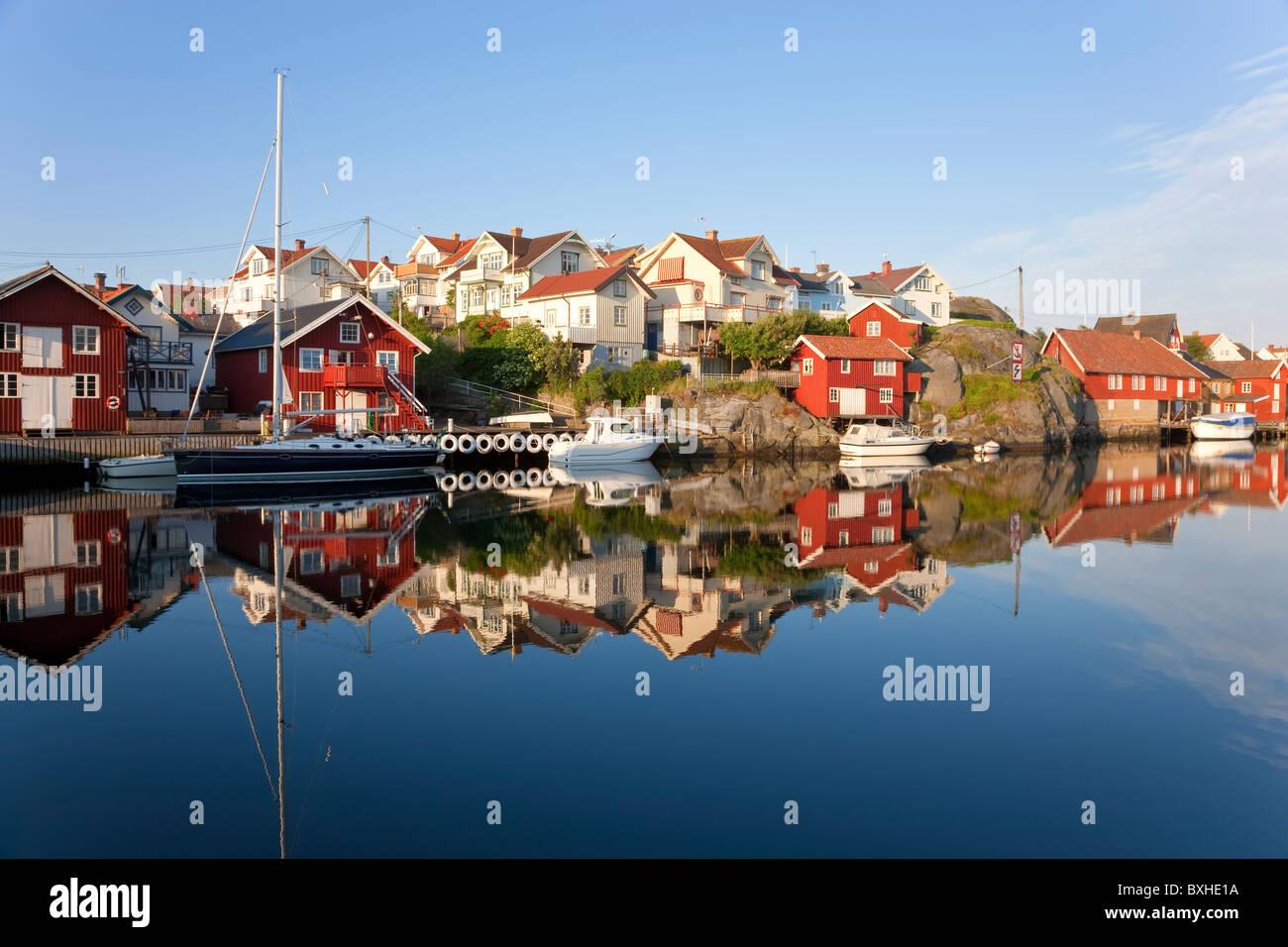 KlŠdesholmen Tjšrn Bohuslaen, île de la côte ouest Suédoise, Photo Stock