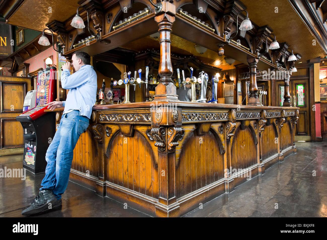 Le monde pub, London, England, UK Photo Stock