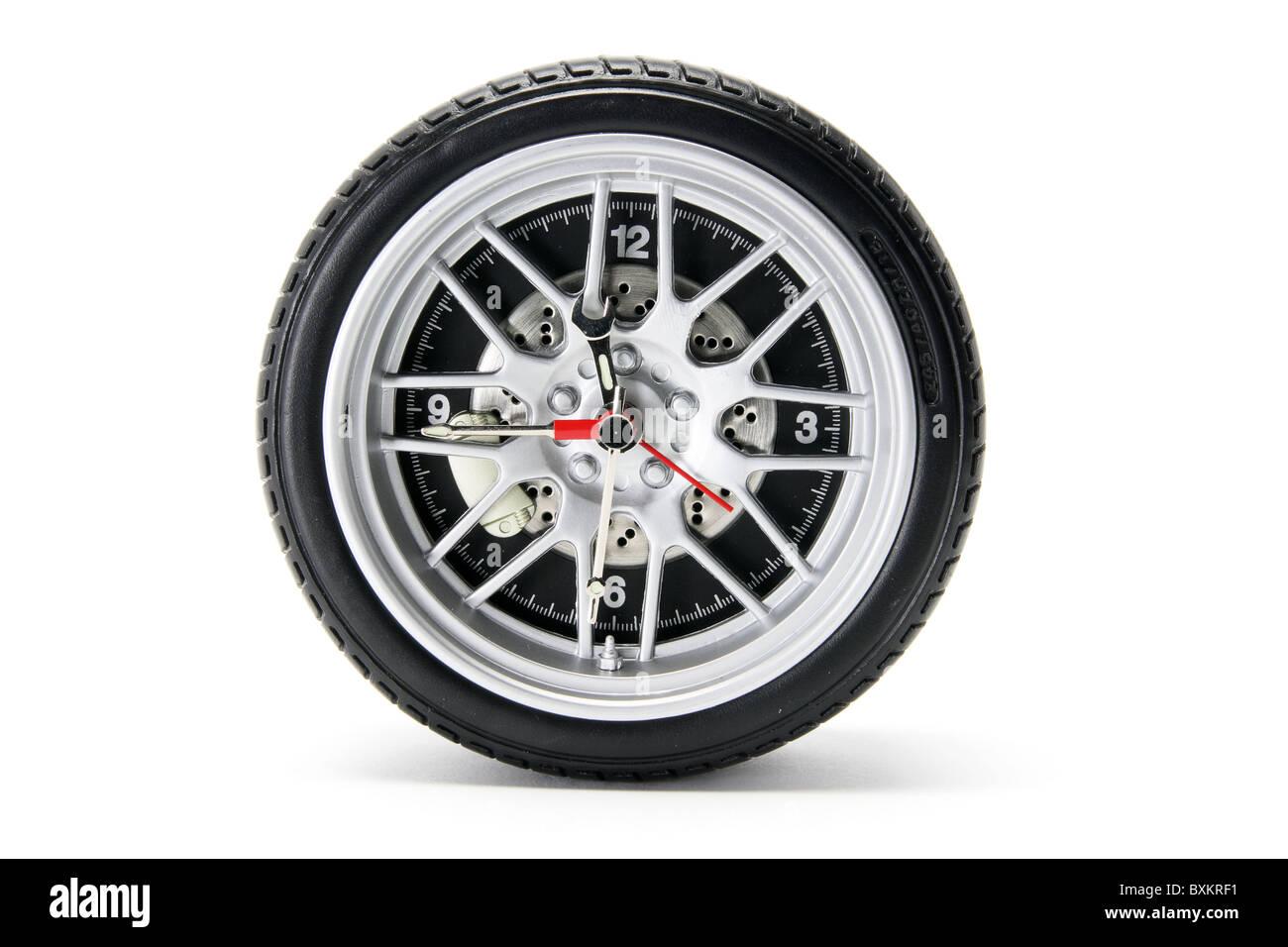 Horloge pneu Photo Stock