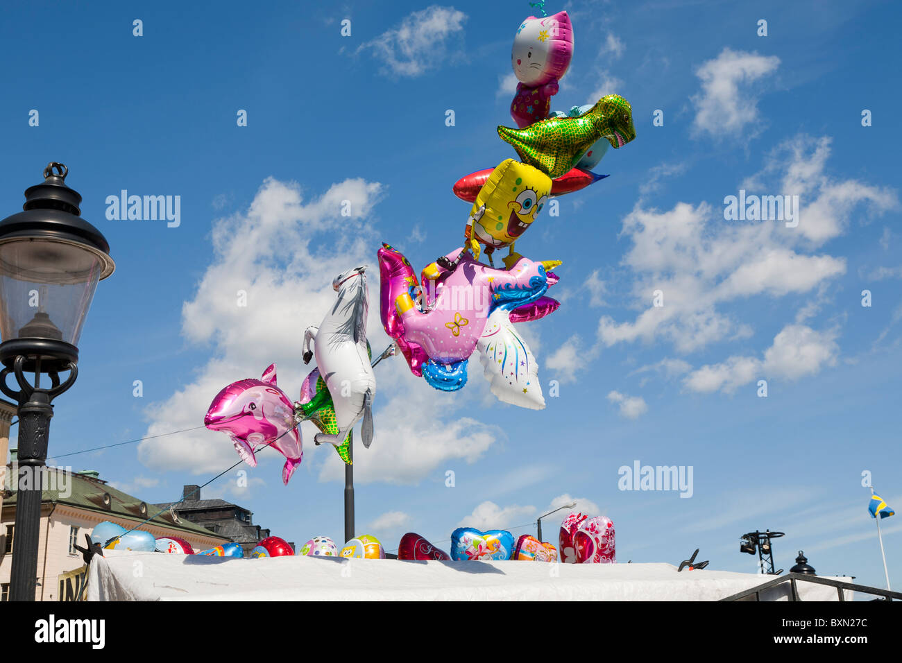 Baloons dans l'air Photo Stock