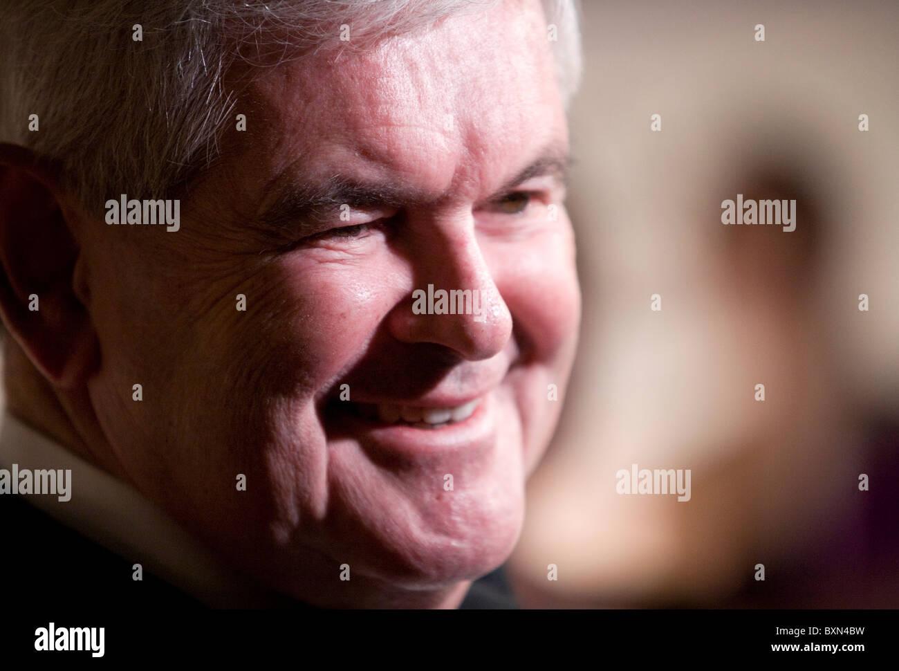 Newt Gingrich, homme politique. Banque D'Images