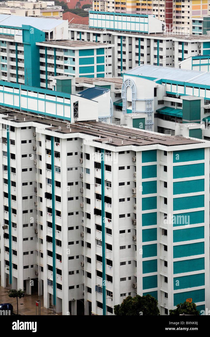 Singapour: immobilier dans le quartier résidentiel de classe moyenne Clementi Photo Stock