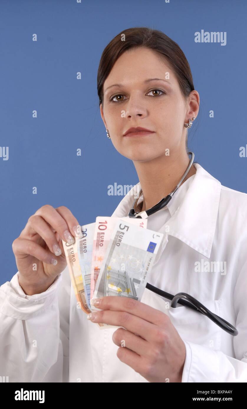 Femme médecin Banque D'Images