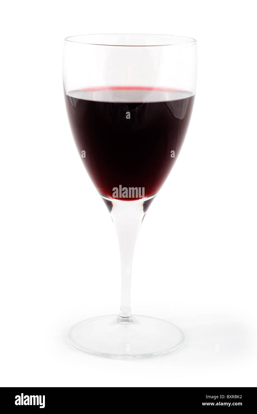 Verre de vin rouge, UK Photo Stock